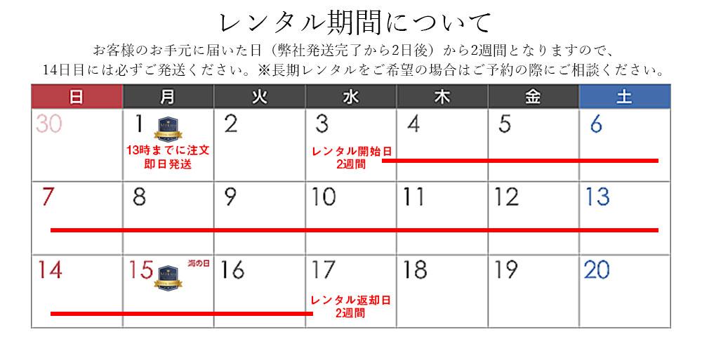 レンタル期間 カレンダー